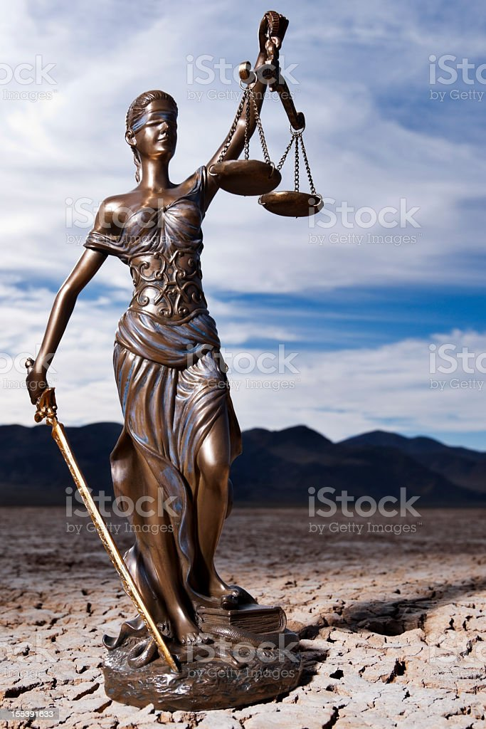 Themis and the Dry Lake Bed royalty-free stock photo