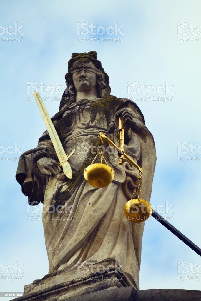 Themis devine of justice (Justitia) stock photo