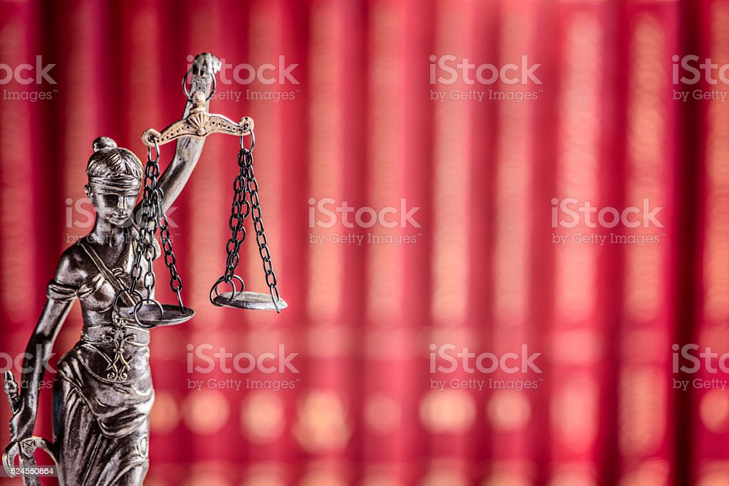 Themis - goddess of justice the symbol of law stock photo
