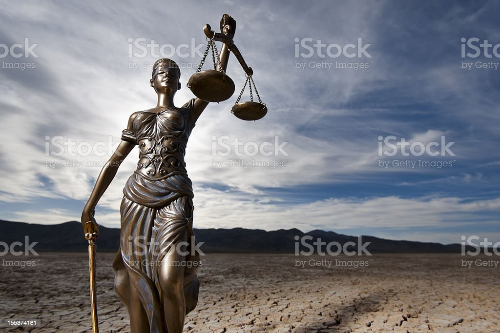 Themis in Dry Lake Bed stock photo