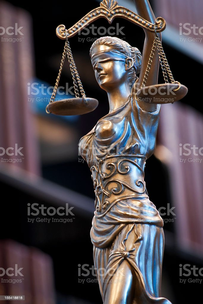 Themis in the Legal Stacks royalty-free stock photo