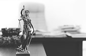 Themis statue in lawyer's office