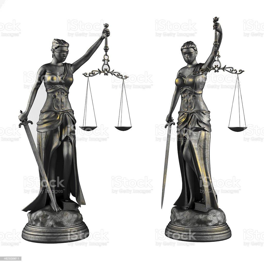 Themis. Statue of justice femida. stock photo
