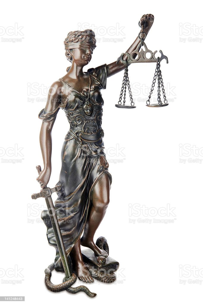 Themis - symbol of justice royalty-free stock photo