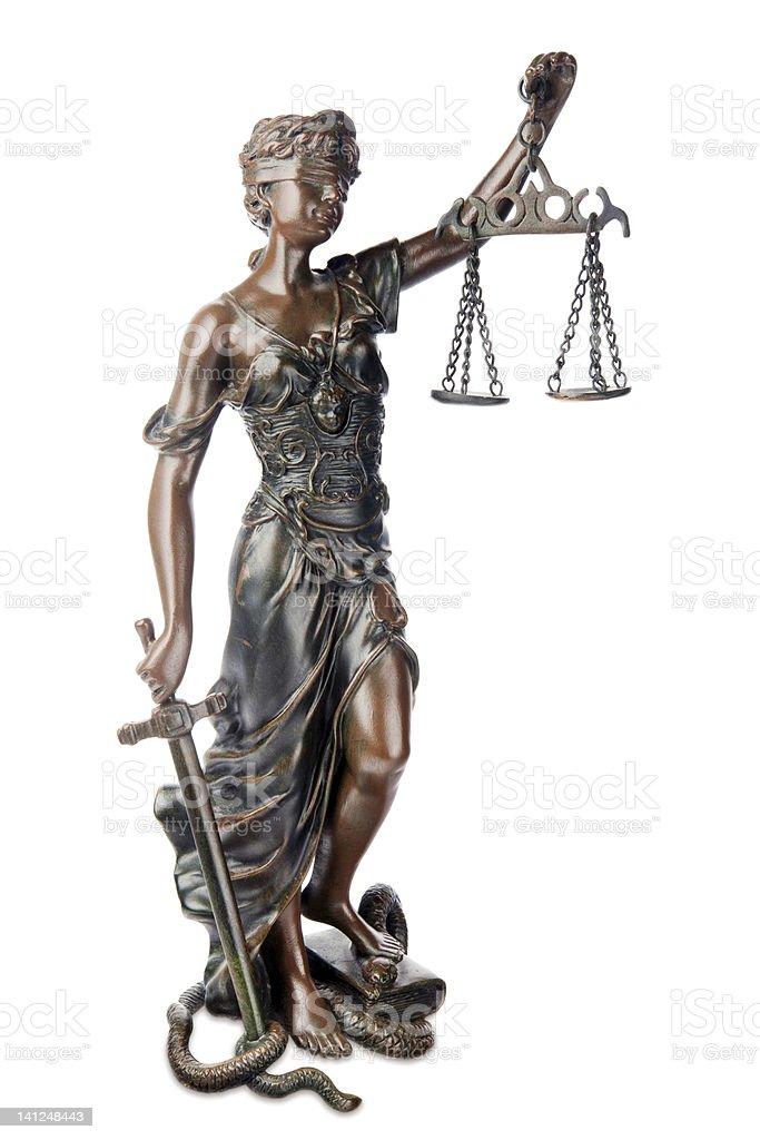 Themis - symbol of justice stock photo