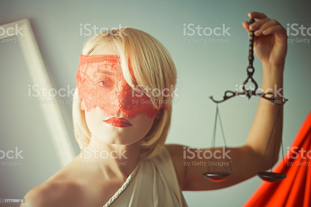 Themis with scales royalty-free stock photo