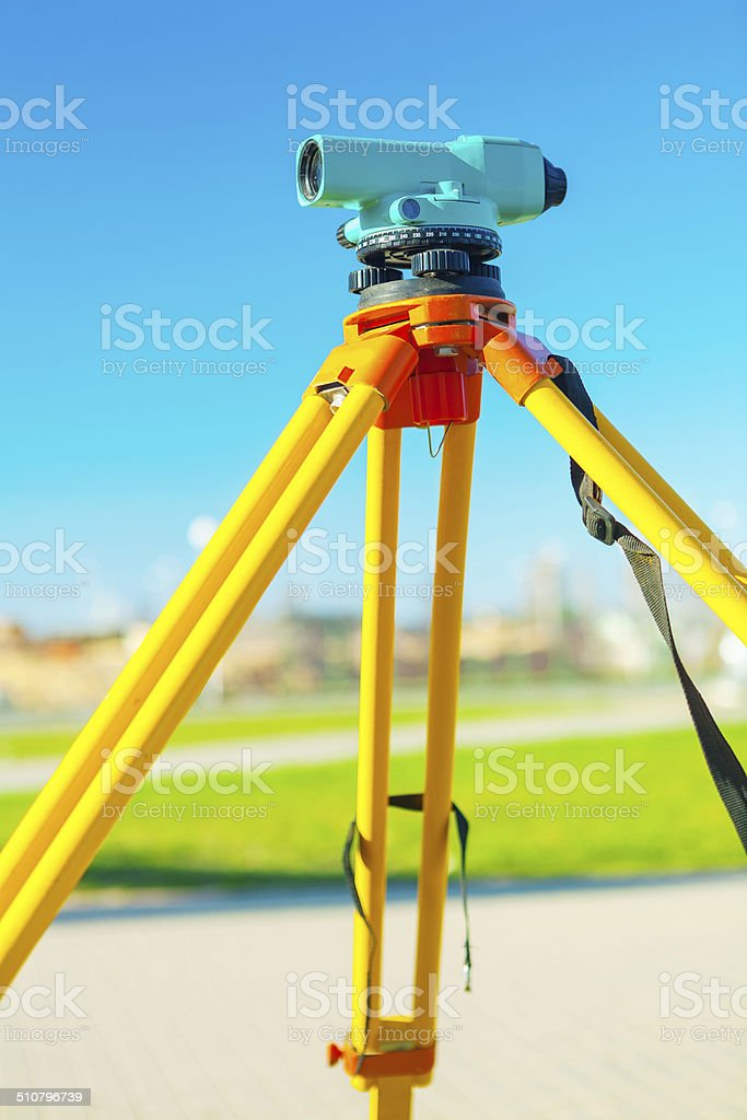 theodolit close up stock photo