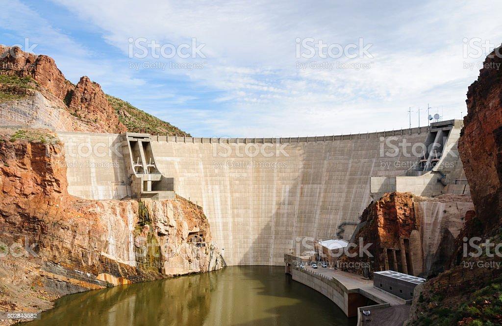 Theodore Roosevelt Dam stock photo