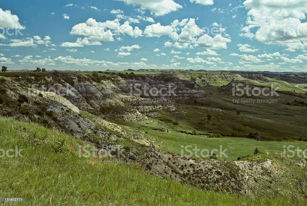 Grassy Canyon and Cloud Formation royalty-free stock photo