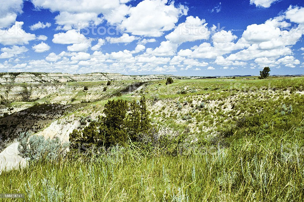 Cloud Formation Over a Badland Canyon royalty-free stock photo
