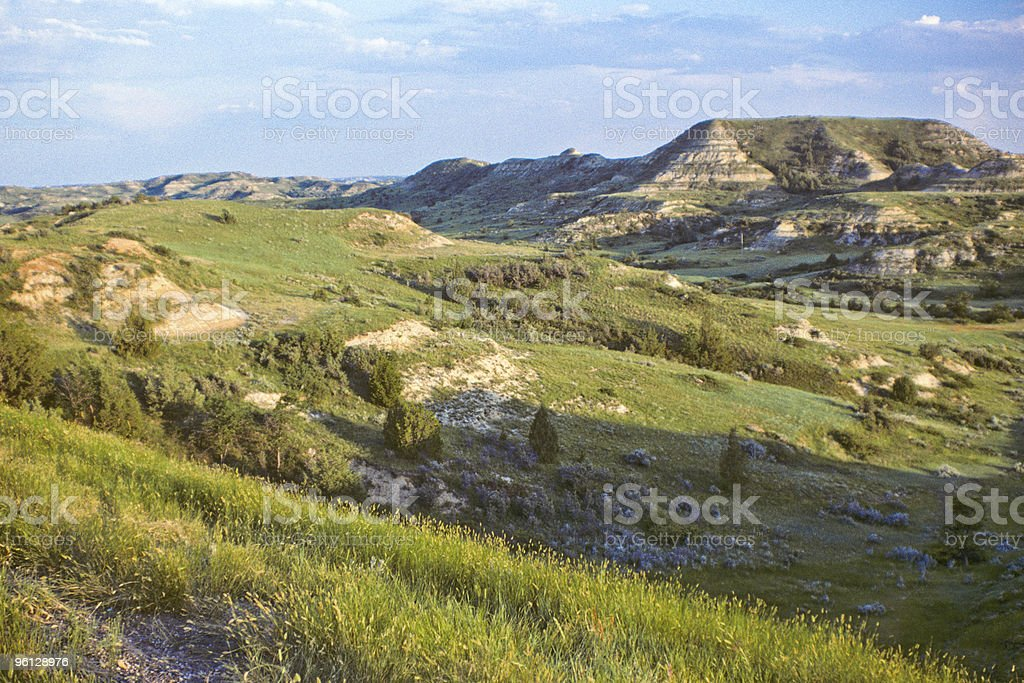 The Badlands at Sunset royalty-free stock photo