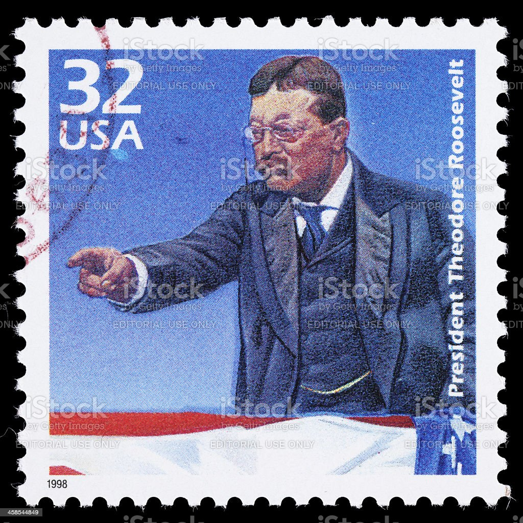 USA Theodore Roosevelt postage stamp stock photo