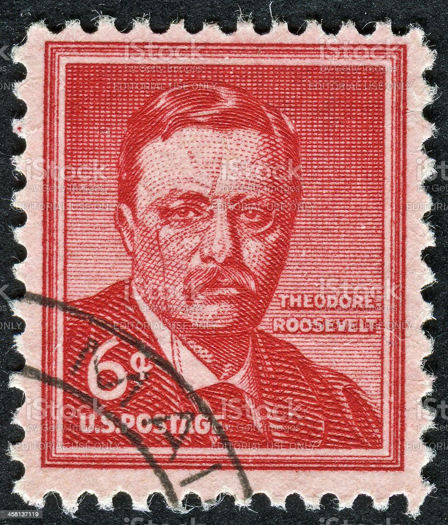 Theodore Roosevelt Stamp royalty-free stock photo