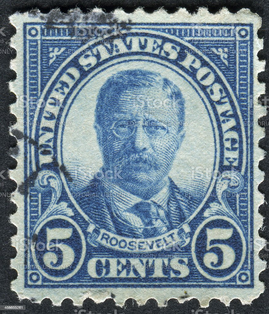 Theodore Roosevelt Stamp stock photo