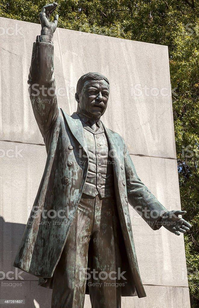 Theodore Roosevelt Statue Island Washington DC stock photo