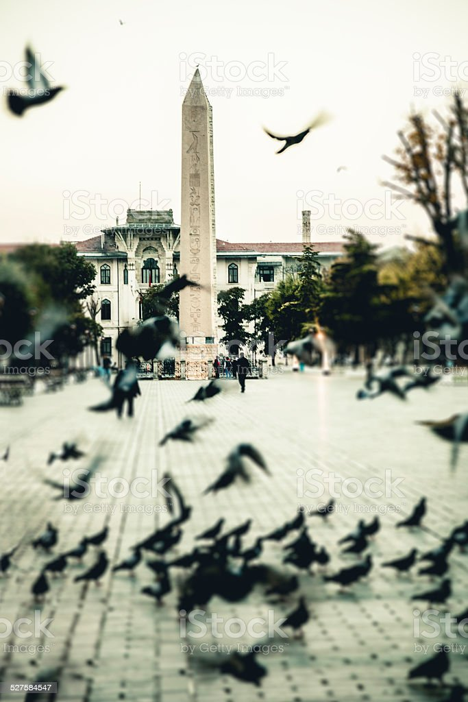 Theodosius Obelisk in Istanbul stock photo