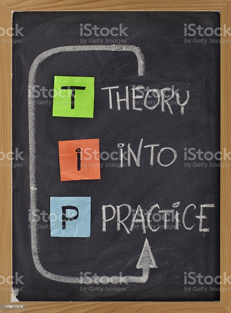 theory into practice royalty-free stock photo