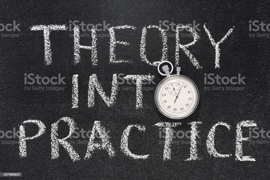 theory into practice stock photo