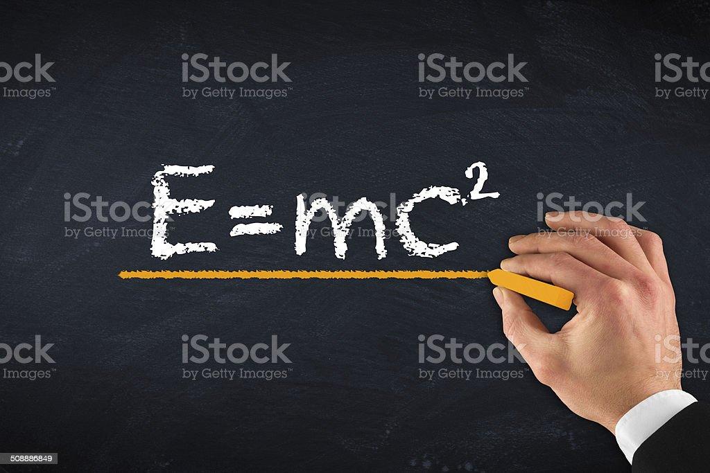 theory of relativity e=mc2 stock photo