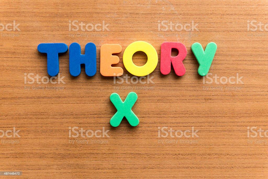 theory x stock photo