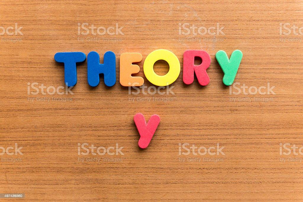 theory y stock photo