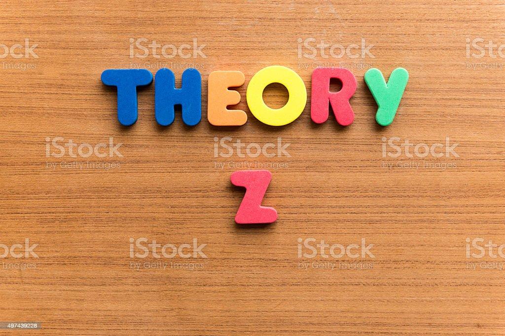 theory z stock photo
