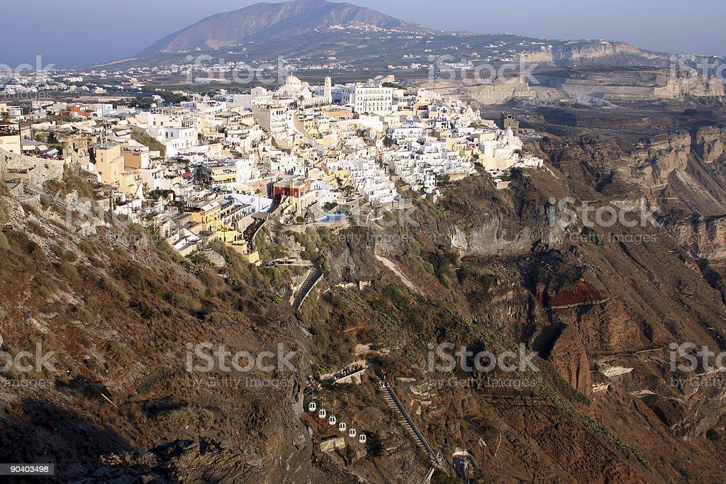 Thera, the capital of Santorini royalty-free stock photo