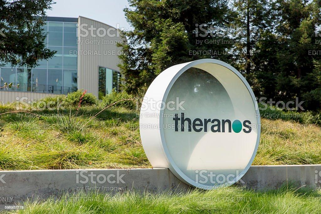 Theranos Headquarters in Silicon Valley stock photo