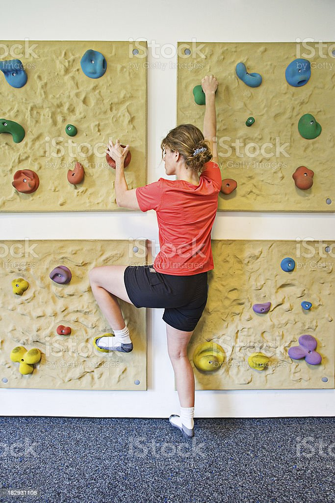 Therapeutical climbing stock photo