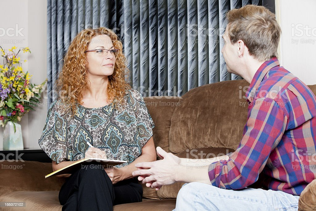 Therapist during the session royalty-free stock photo