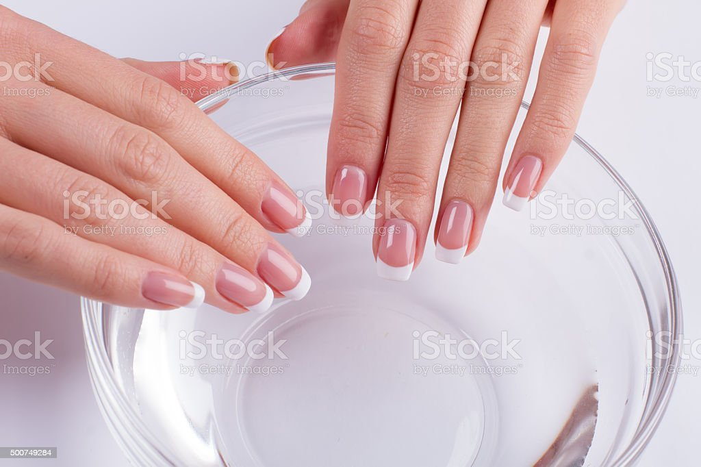 Therapy for nails. stock photo