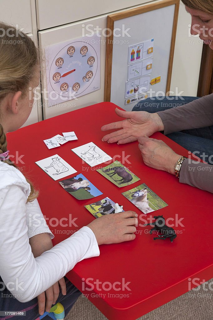 ABA therapy stock photo