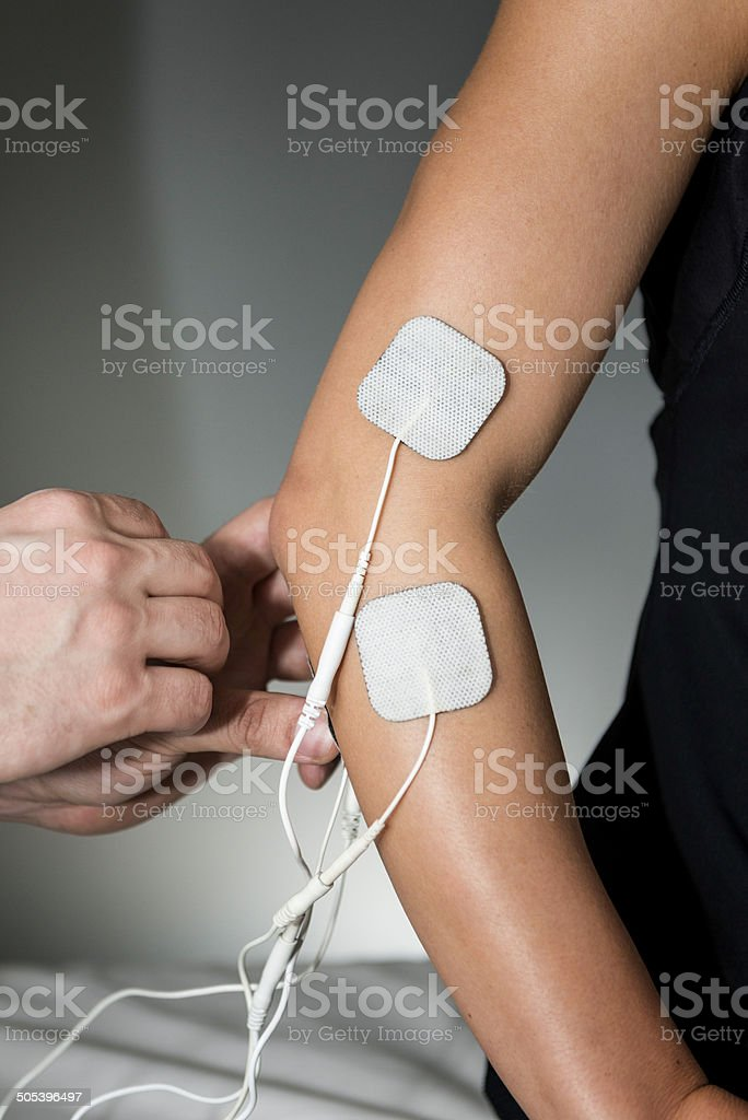 TENS Therapy stock photo