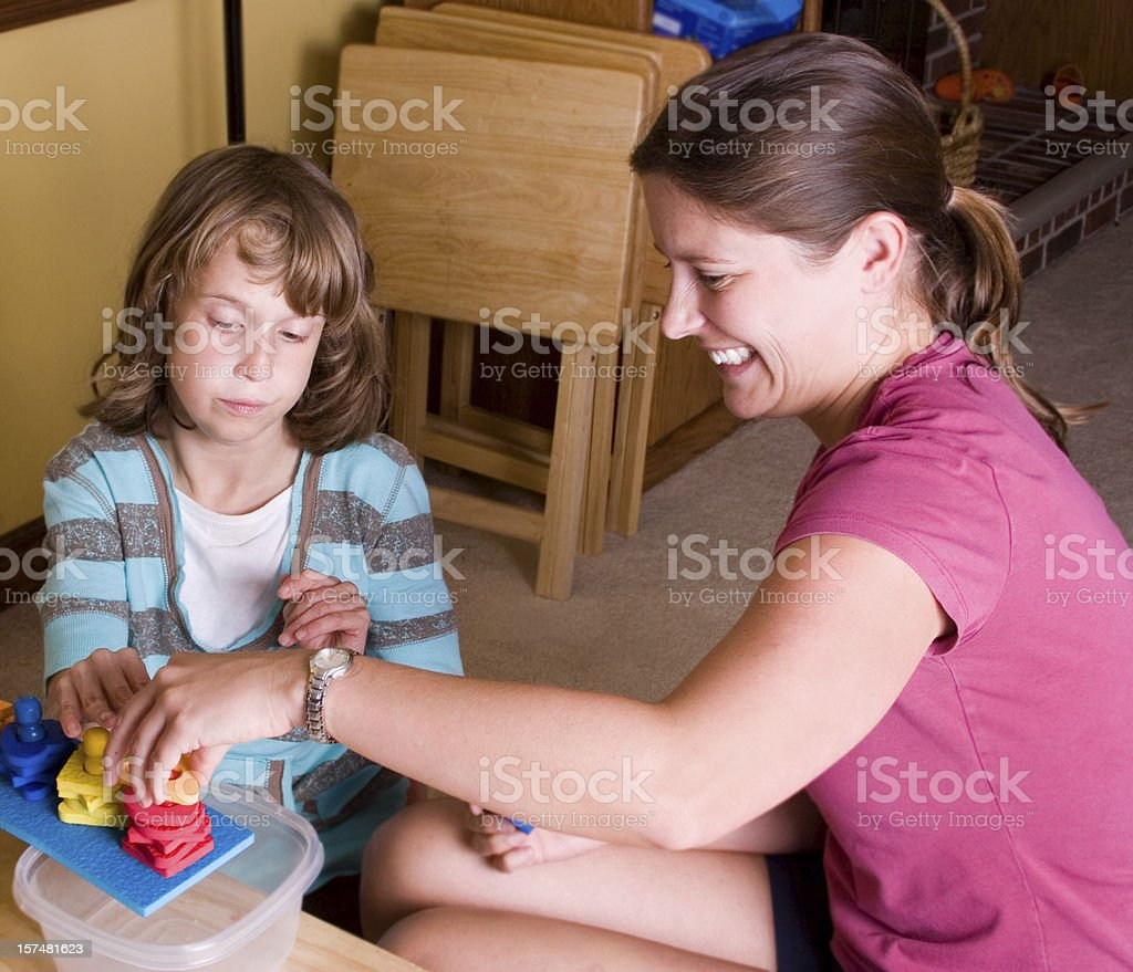 ABA therapy session stock photo