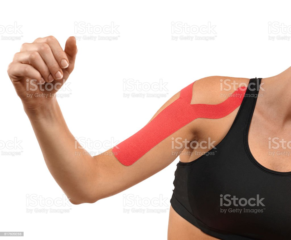 Therapy with tex tape stock photo