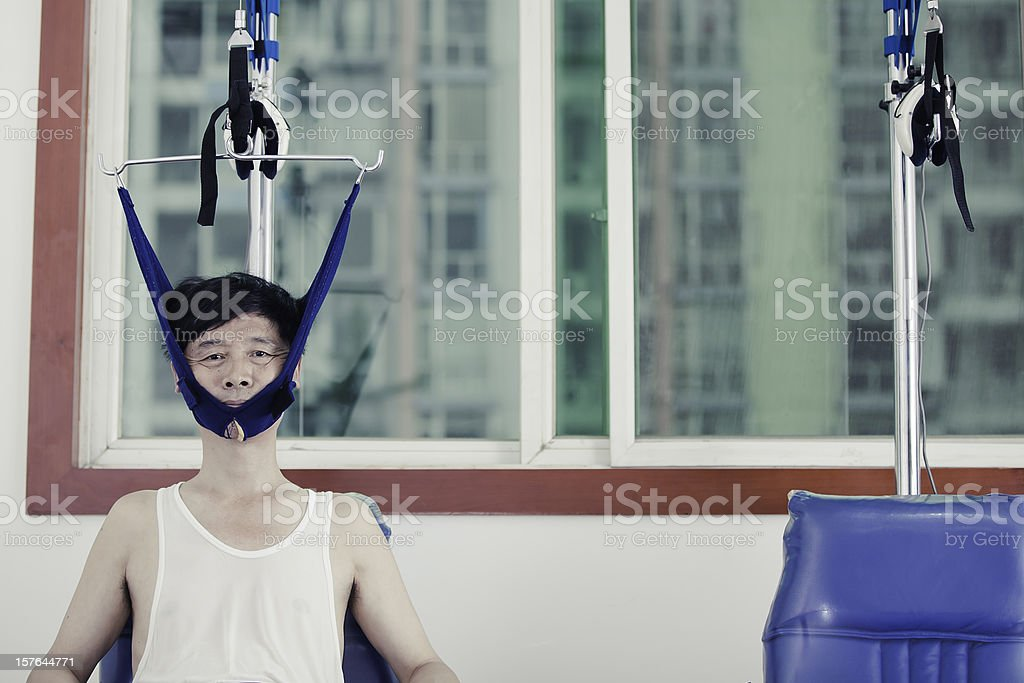 therapy,traction stock photo