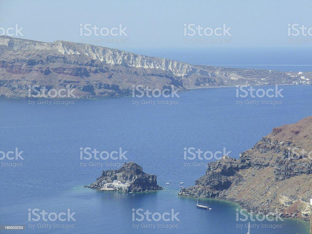 Therasia in Greece stock photo