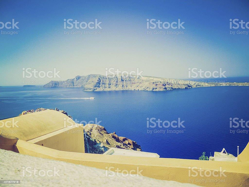 Therasia in Greece retro look stock photo