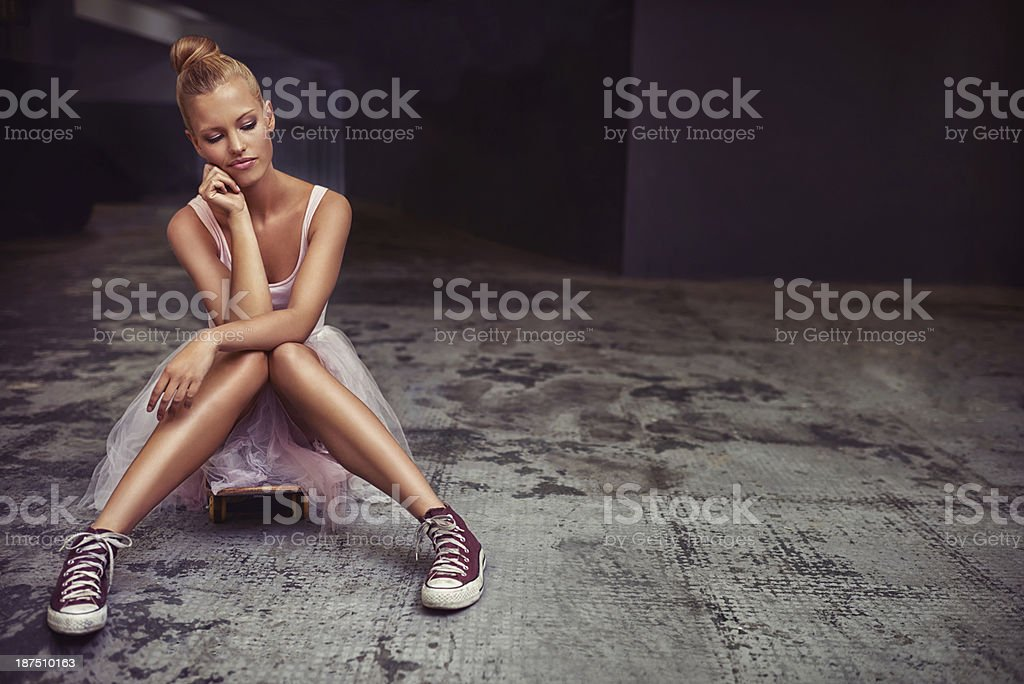 There are many sides to her personality stock photo