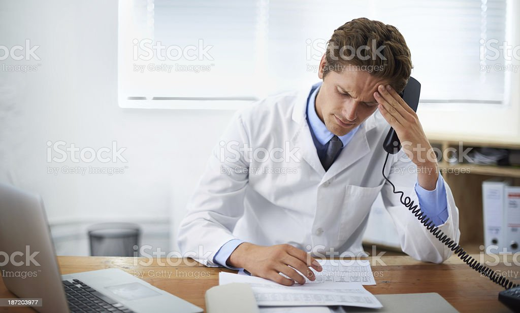 There has to be another treatment royalty-free stock photo