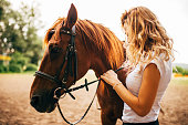 There is a bond between horse and women