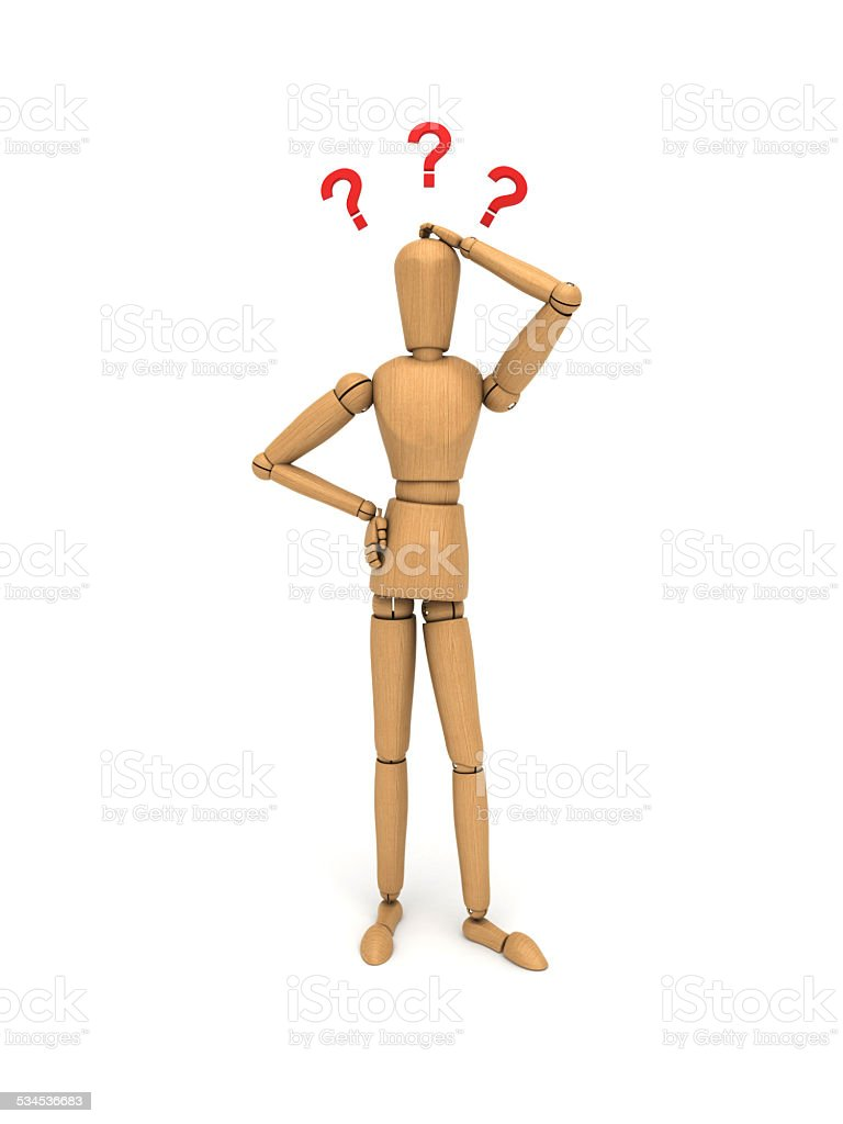 There is a question mark scratching the head font stock photo
