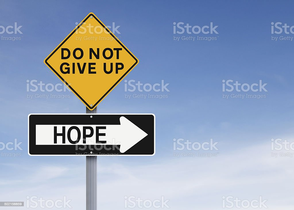 There Is Always Hope stock photo