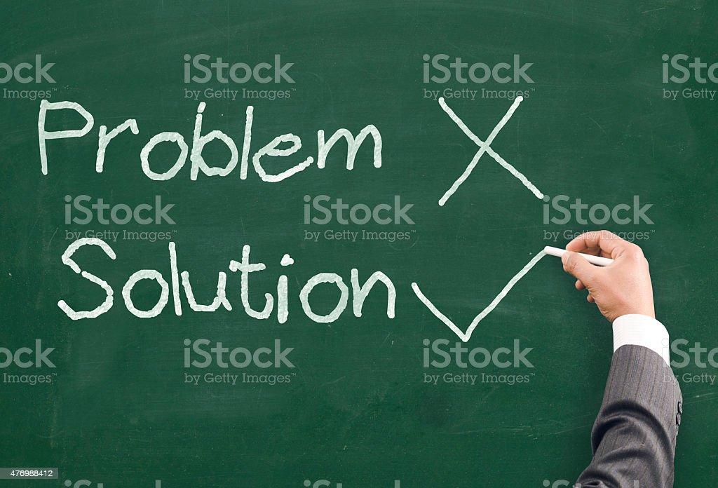 There is always solution stock photo