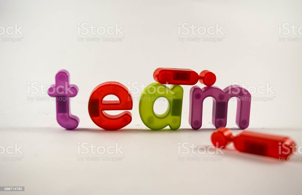 there is no I in team stock photo