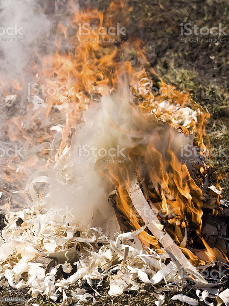 There is no smoke without fire royalty-free stock photo