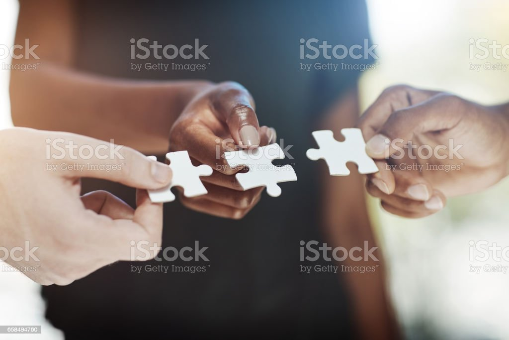 There is no solution greater than teamwork stock photo