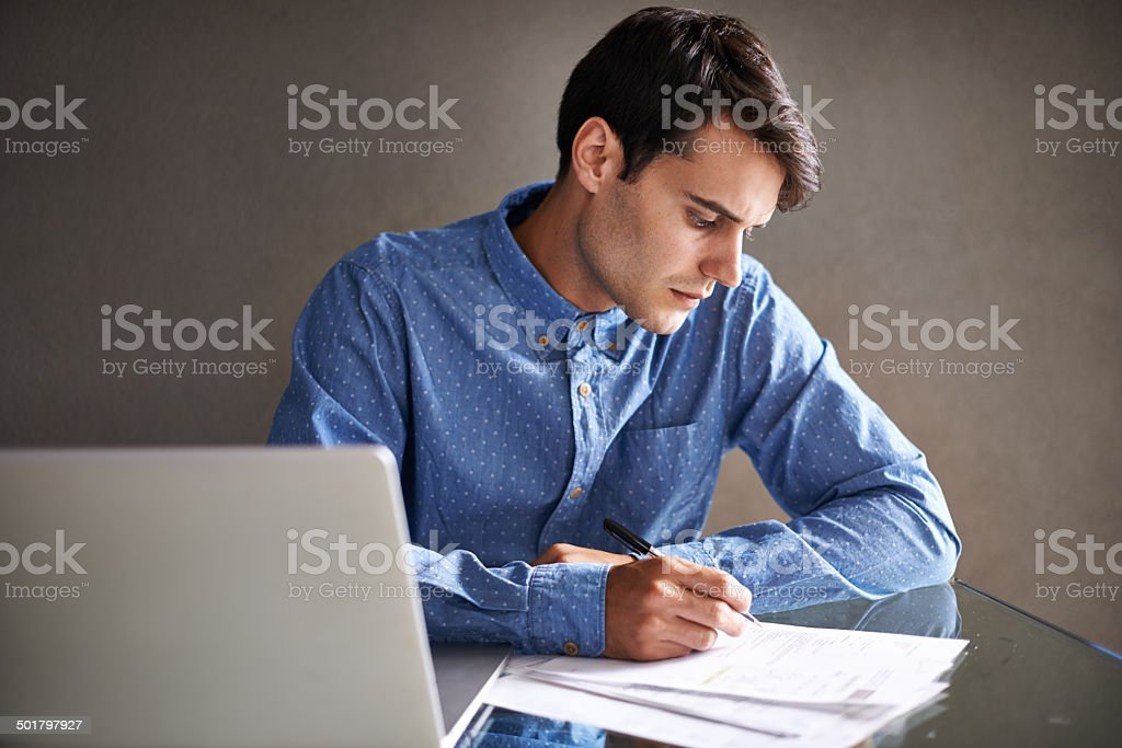 There is no substitute for hard work stock photo