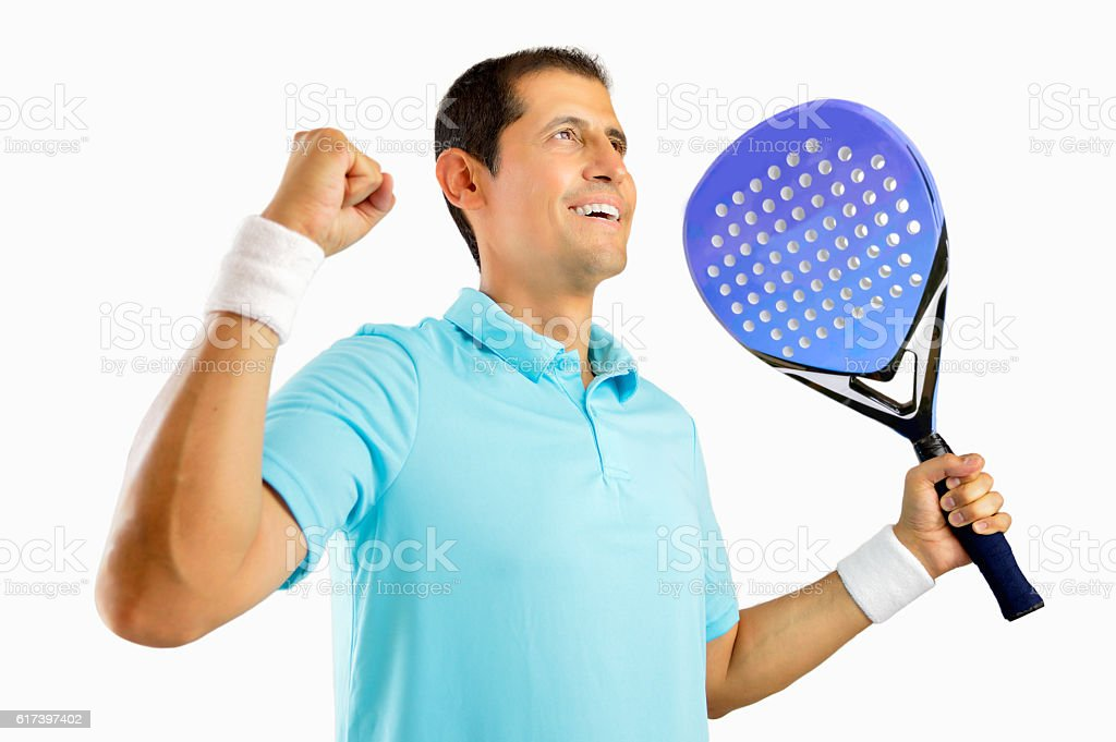 There is nothing like the feel of victory stock photo