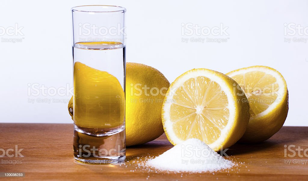 There is only one way to drink tequilla stock photo